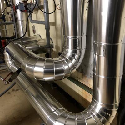 Calorifuge de tuyauterie sur Toulouse  revetement tole aluminium