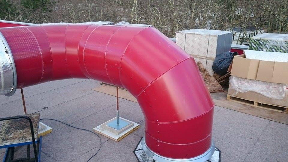 Calorifuge Gaine de ventilation en extérieur