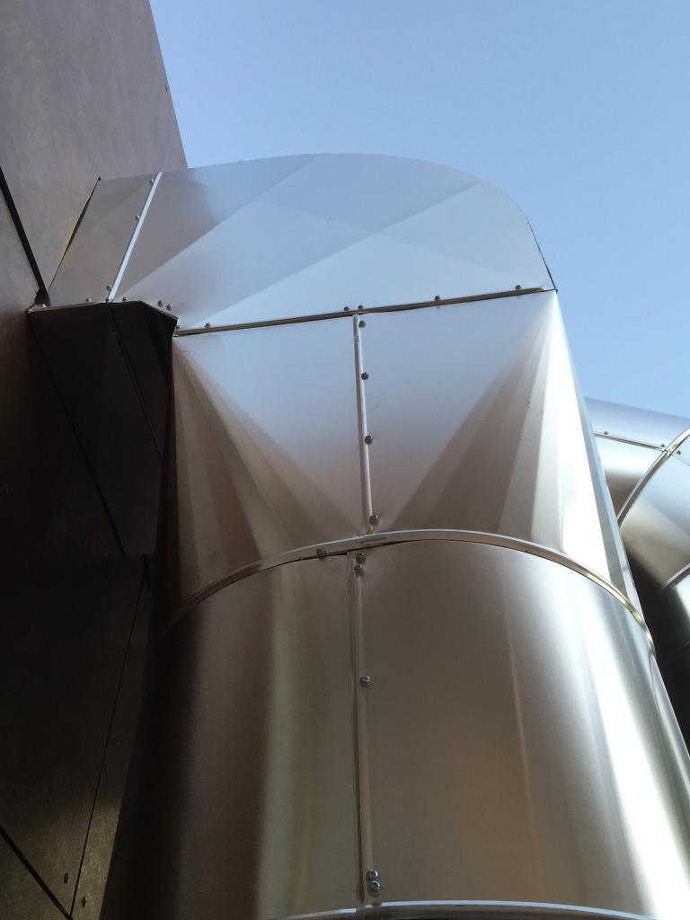Calorifuge gaine de ventilation extérieur