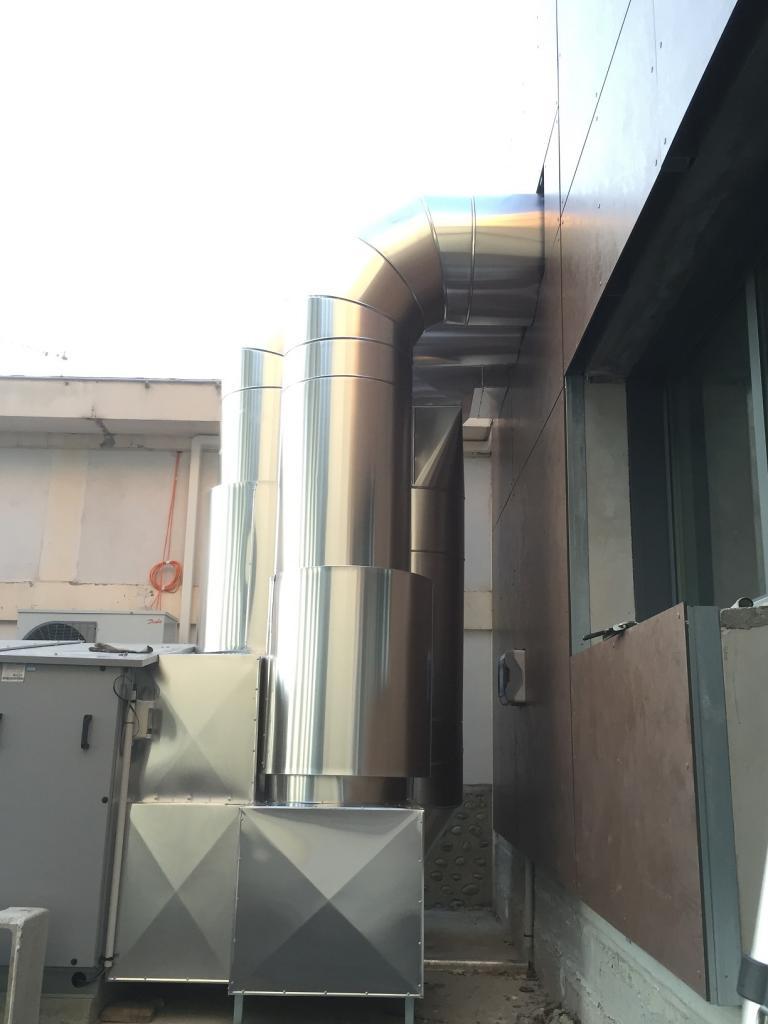 Calorifugeage gaine de ventilation extérieur