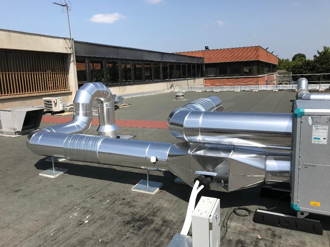 Calorifuge gaine de ventilation en toitue sur Toulouse