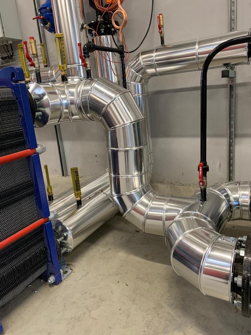 Calorifuge chaufferie Toulouse  revêtement tôle aluminium