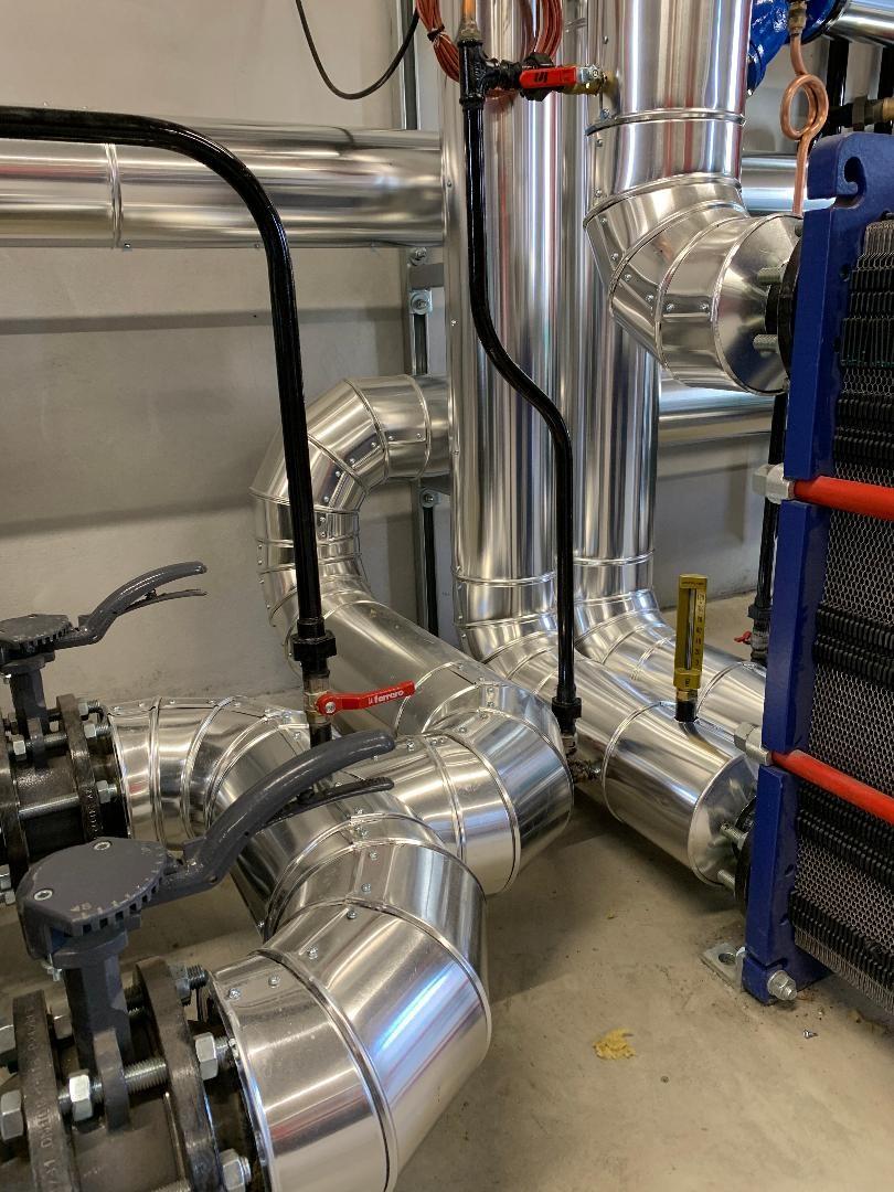 Calorifuge chaufferie Toulouse  revetement tole aluminium